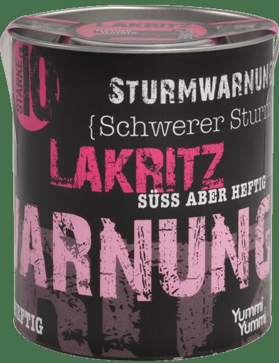 Sturmwarnung Lakritz Schwerer Sturm Dose